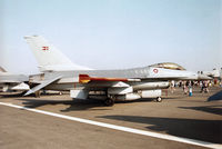 E-607 @ EGVA - F-16A Falcon of Eskradille 723 Royal Danish Air Force at Aalborg on display at the 1996 Royal Intnl Air Tattoo at RAF Fairford. - by Peter Nicholson