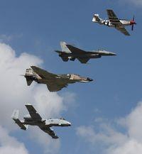 81-0967 @ NIP - With F-4, F-16 and P-51
