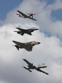 N751RB @ NIP - With F-4, F-16 and A-10