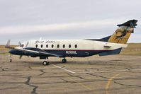 N201GL @ CNY - 1996 Beech 1900D, c/n: UE-201 of great Lakes leaves the Moab ramp - Denver bound