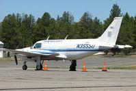 N3555D @ FLG - Ameriflight's Piper PA-31-350, c/n: 31-8052059 at Flagstaff AZ