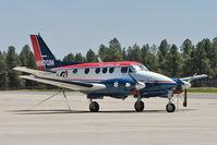N987GM @ FLG - 1973 Beech E-90, c/n: LW-65 at Flagstaff AZ - by Terry Fletcher