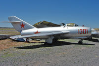 1301 @ 40G - Mikoyan Gurevich MIG 15 Fagot, c/n: 5058 at planes of Fame Museum Valle , AZ - by Terry Fletcher