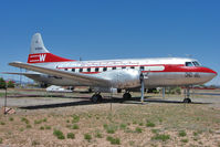 N240HH @ 40G - Classic Airliner 1948 Convair 240-1, c/n: 47 presrved in Western Airlines colours at Planes of Fame , Valle AZ