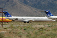 N428NV @ IGM - Ex SAS Mcdonnell Douglas DC-9-82(MD-82), c/n: 49420 stored at Kingman