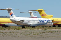 N528PT @ IGM - Ex Spanair Mcdonnell Douglas DC-9-82(MD-82), c/n: 49416 stored at Kingman