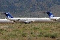 N425NV @ IGM - Ex SAS Mcdonnell Douglas DC-9-82(MD-82), c/n: 49438 stored at Kingman