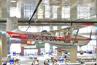 N9172B @ LAS - 1958 Cessna 172, c/n: 36772 hanging in the Hall at Las Vegas McCarran Int