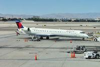 N823SK @ LAS - Bombardier CL600-2D24, c/n: 15205 on stand at Las Vegas Int