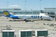 N408NV @ LAS - Allegiant Air's 1991 Mcdonnell Douglas DC-9-83(MD-83), c/n: 53246 with Blue Man Group titles