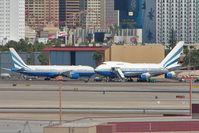 VP-BLK @ LAS - 1979 Boeing 747SP-31, c/n: 21961/415 (right) and sister craft at Las Vegas