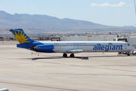 N866GA @ LAS - 1989 Mcdonnell Douglas DC-9-83(MD-83), c/n: 49910 of Allegiant Air at Las Vegas