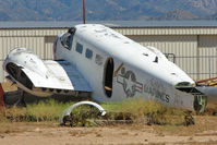 29618 @ IGM - Ex US Navy Beech SNB-2  outside at Kingman AZ - by Terry Fletcher