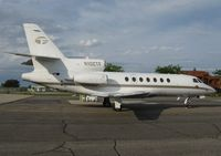 N102TF @ KAXN - Dassault Falcon 50 at the fuel pump. - by Kreg Anderson
