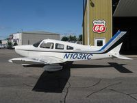N103KC @ KAXN - Piper PA-28-236 Dakota in front of the hangar. - by Kreg Anderson