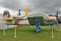 N14113 @ EGBK - 1951 North American T-28A, c/n: 81-1- an unusual exhibitor at the 2011 AeroExpo at Sywell