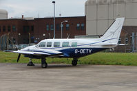 G-OETV @ EGNX - 1978 Piper PIPER PA-31-350, c/n: 31-7852073 parked at East Midlands