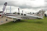 N395EU @ EGBK - Hawker Beechcraft Corp G36, c/n: E-3951 displayed at 2011 AeroExpo at Sywell