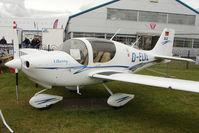 D-ELXL @ EGBK - Liberty Aerospace XL-2, c/n: 0088 exhibited at 2011 AeroExpo at Sywell