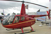 N66NN @ EGBK - Robinson Helicopter Co R66, c/n: 0017 display at 2011 AeroExpo at Sywell