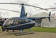 N66UK @ EGBK - Robinson Helicopter Co R66, c/n: 0017 exhibited at 2011 Aero Expo at Sywell
