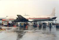 N614CA @ FXE - Caicos Caribbean Airways DC6A - by Henk Geerlings