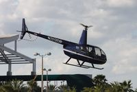 N312DP - R44 leaving Heliexpo Orlando