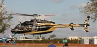 N330BC - Bell 407 leaving Heliexpo Orlando