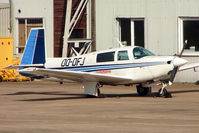 OO-DFJ @ EGNX - Belgian registered 1995 Mooney M-20J 201, c/n: 24-0717 parked at East Midlands
