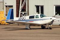 OO-DFJ @ EGNX - Belgian registered 1995 Mooney M-20J 201, c/n: 24-0717 parked at East Midlands
