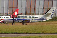 G-FIND @ EGNX - 1989 Reims Aviation Sa REIMS CESSNA F406, c/n: 0045 sporting a different colour scheme since I last saw it