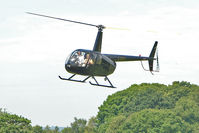 G-DMRS - 2004 Robinson Helicopter Co Inc ROBINSON R44 II, c/n: 10513 arriving to meet friends at Baxterley