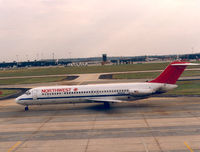 N9332 @ IAD - Northwest - by Henk Geerlings