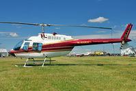 G-SUEX @ EGBG - 1978 Agusta Bell Jetranger ll, c/n: 8567 at Leicester