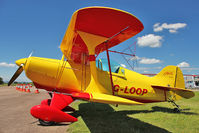 G-LOOP @ EGBG - 1973 Mallison D PITTS S-1C (4 AILERON), c/n: 850 resident at Leicester - an explosion of colour on a blue sky day !!