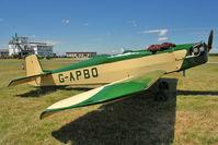 G-APBO @ EGBG - 1960 Druine D.5 Turbi, c/n: PFA 229 at Leicester - by Terry Fletcher