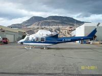 C-FCCK @ CYKA - Medivac chopper stationed in CYKA for use on Trauma flights. (B.E.A.R.S. / S.T.A.R.S.)
