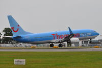 G-FDZE @ EGHH - Touching-down on 26, taken from the Flying Club - by planemad