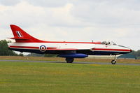 G-ETPS @ EGBP - taxiing along the runway prior to its display at the Cotswold Airshow - by Chris Hall