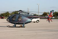 N1601Y - Hughes MD 369E will leave in a trailer for Heliexpo