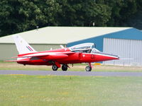 G-RORI @ EGBP - Heritage Aircraft Ltd Folland Gnat after its display at the Cotswold Airshow 2011 - by Chris Hall