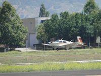 N1168B @ POC - Landing on runway 26R - by Helicopterfriend
