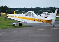 G-BHUU @ EGTB - Pawnee glider tug at Wycombe Air Park - by moxy