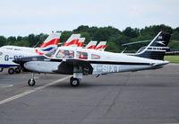 G-SIXT @ EGTB - Cherokee Warrior II at Wycombe Air Park - by moxy