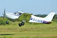 G-LACB @ EGCB - 1982 Piper PA-28-161 Cherokee Warrior II, c/n: 28-8216035 at Barton
