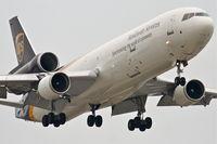N289UP @ KORD - United Parcel Service Mcdonnell Douglas MD-11F, UPS1540 arriving from Cologne Bonn - EDDK, RWY 14R approach KORD. - by Mark Kalfas