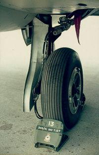 WT509 @ LMML - Main landing gear of Canberra WT509 RAF Luqa Malta - by raymond