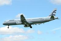 SX-DGA @ EGLL - Aegean Airlines 2009 Airbus A321-231, c/n: 3878 at Heathrow