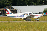 G-NUKA @ EGSX - 1982 Piper PA-28-181 Archer II, c/n: 28-8290134 departing North Weald