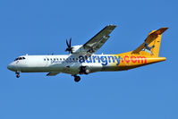 G-VZON @ EGCC - Auringy Airlines 2009 ATR 72-212A, c/n: 853 arriving at Manchester